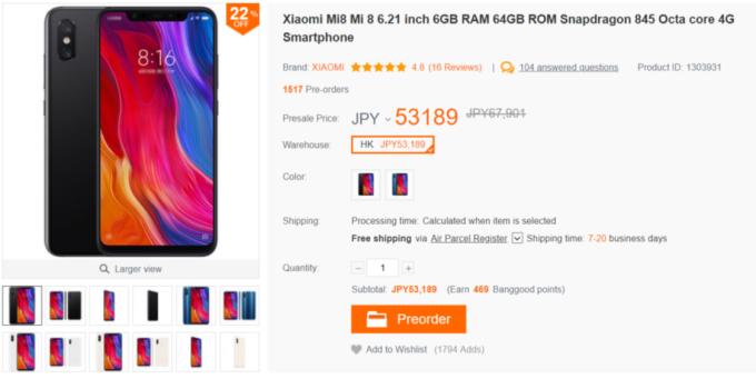 Xiaomimi8